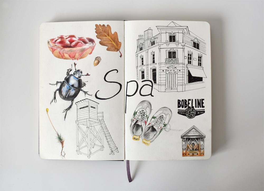 Spa travel illustrations 02 sketch - studio katipeifer