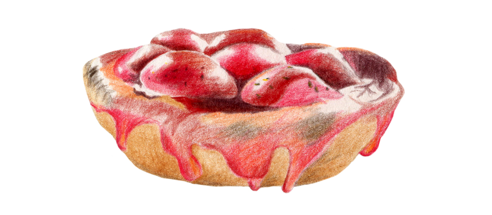 Spa travel illustrations 04 pastry - studio katipeifer