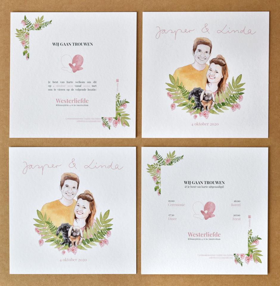 Wedding card J&L 04 invitations - studio katipeifer