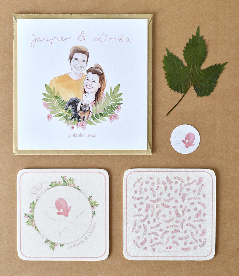 Wedding card J&L 05 package - studio katipeifer